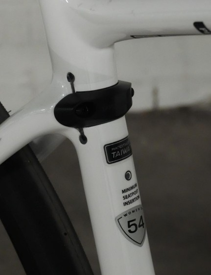 The seatpost is clamped low in the seat tube allowing it to flex and absorb road chatter