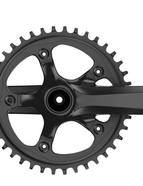 The Apex 1 crank comes in various chain ring sizes and crank lengths