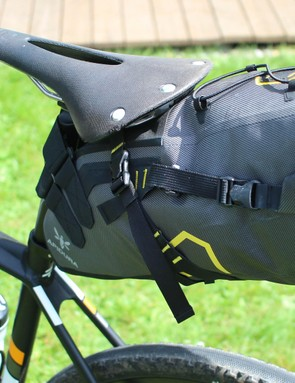 Apidura's saddle pack is a decent, lightweight alternative to panniers