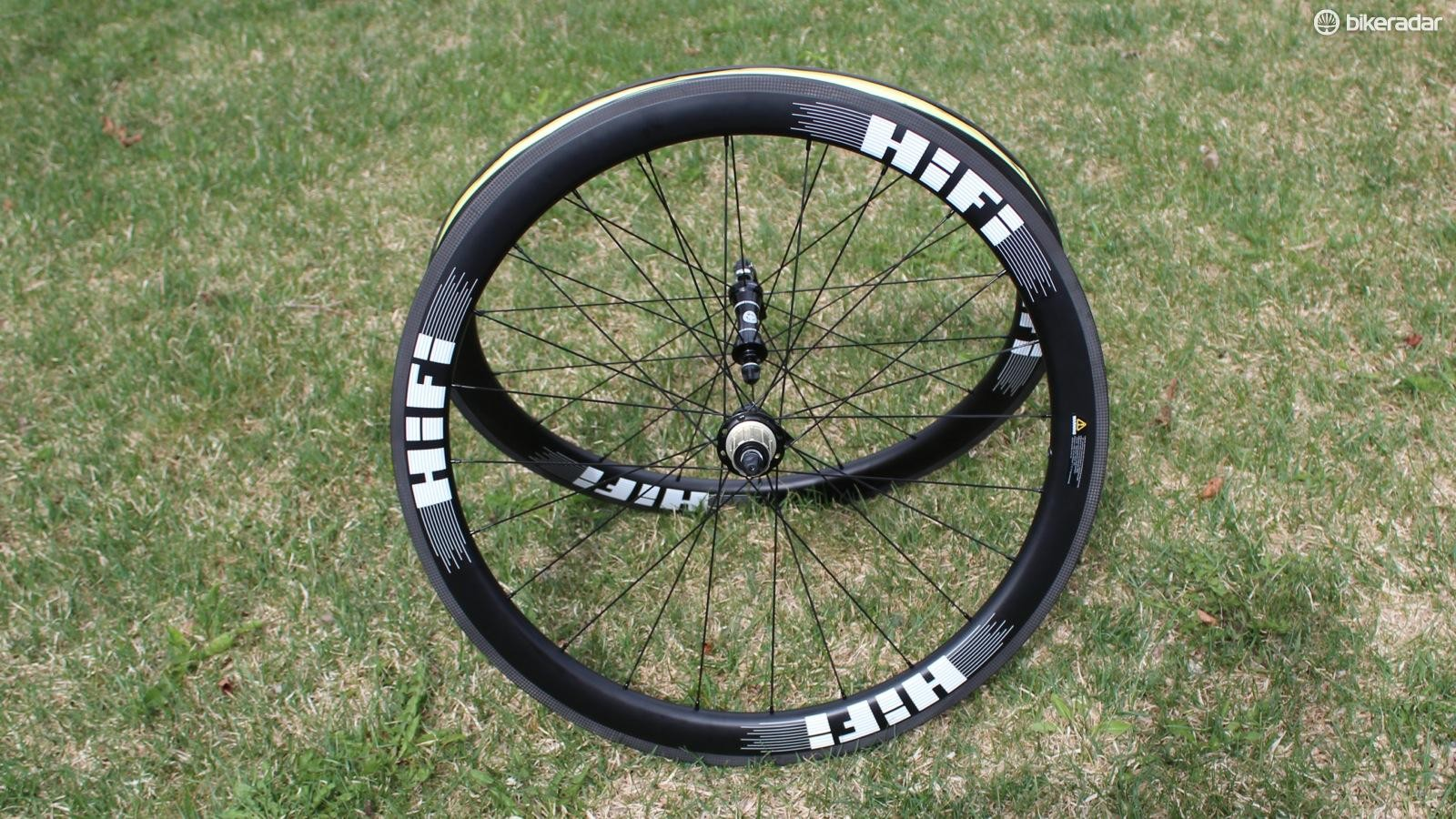 The HiFi Hit Single Carbon Clinchers are 50mm tubeless wheels