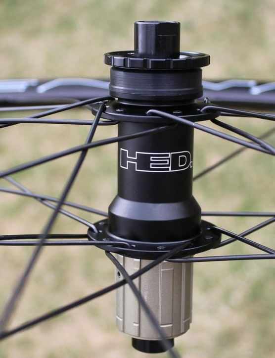 The 24-spoke wheels build up to 1,680g for the pair