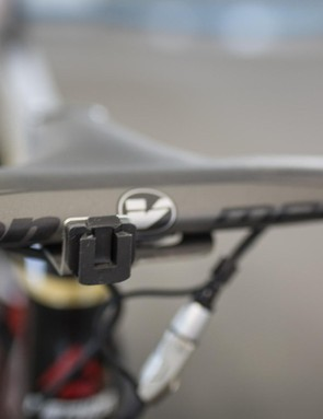 The custom-finished gold SRM PC-8 headunit wasn't available to be shot with the bike