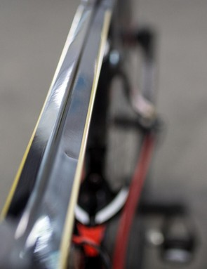 The top tube on the Reacto features a central peak