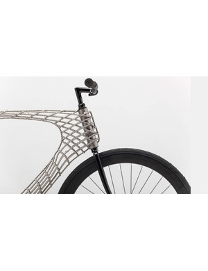 The Arc bike frame is constructed from layer upon layer of steel, and printed into mid-air