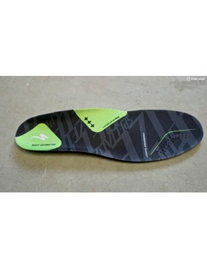 The Body Geometry high-arch footbed addresses all three arches — medial, lateral and transverse