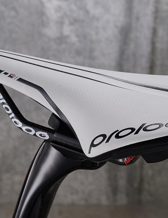 Argon 18 provides the seatpost and Prologo the saddle