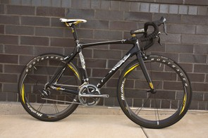 A very special bike for the king of Gotham, seven-time Tour winner Lance Armstrong.