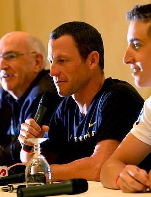 Don Catlin, Lance Armstrong and Taylor Phinney.