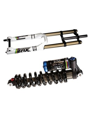 Fox has released limited edition World Champion versions of its 40 RC2 downhill fork and DHX RC4 shock