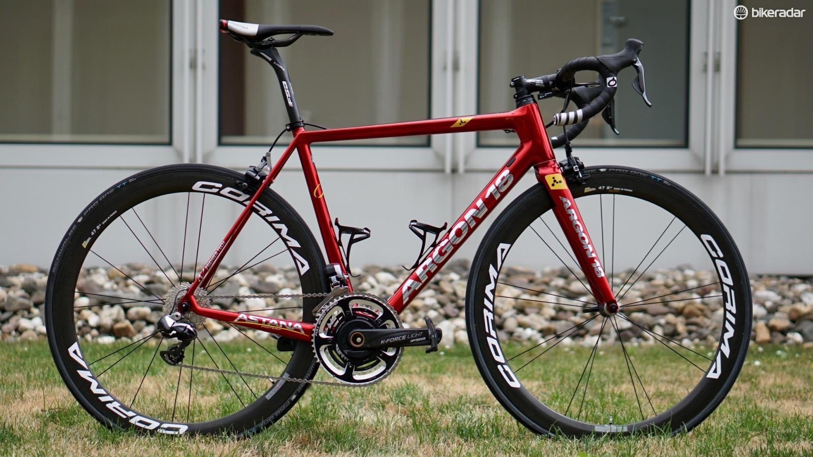 Fabio Aru was presented this new Argon 18 just before the Tour de France began