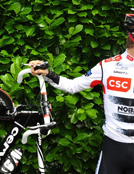 Lean on me: Andy and his Cervélo