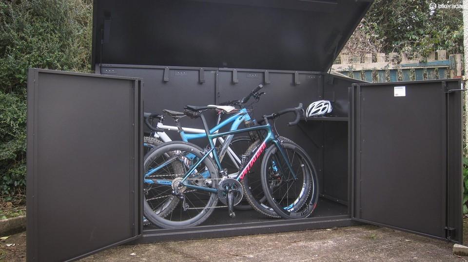 Asgard Access E Plus bike box review - Bike Storage Systems