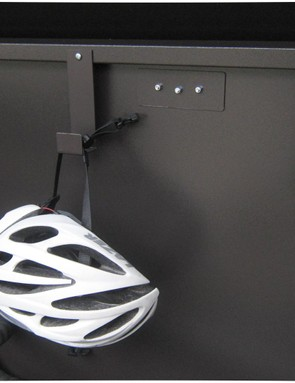 Hooks can be used for helmets and bags and the like