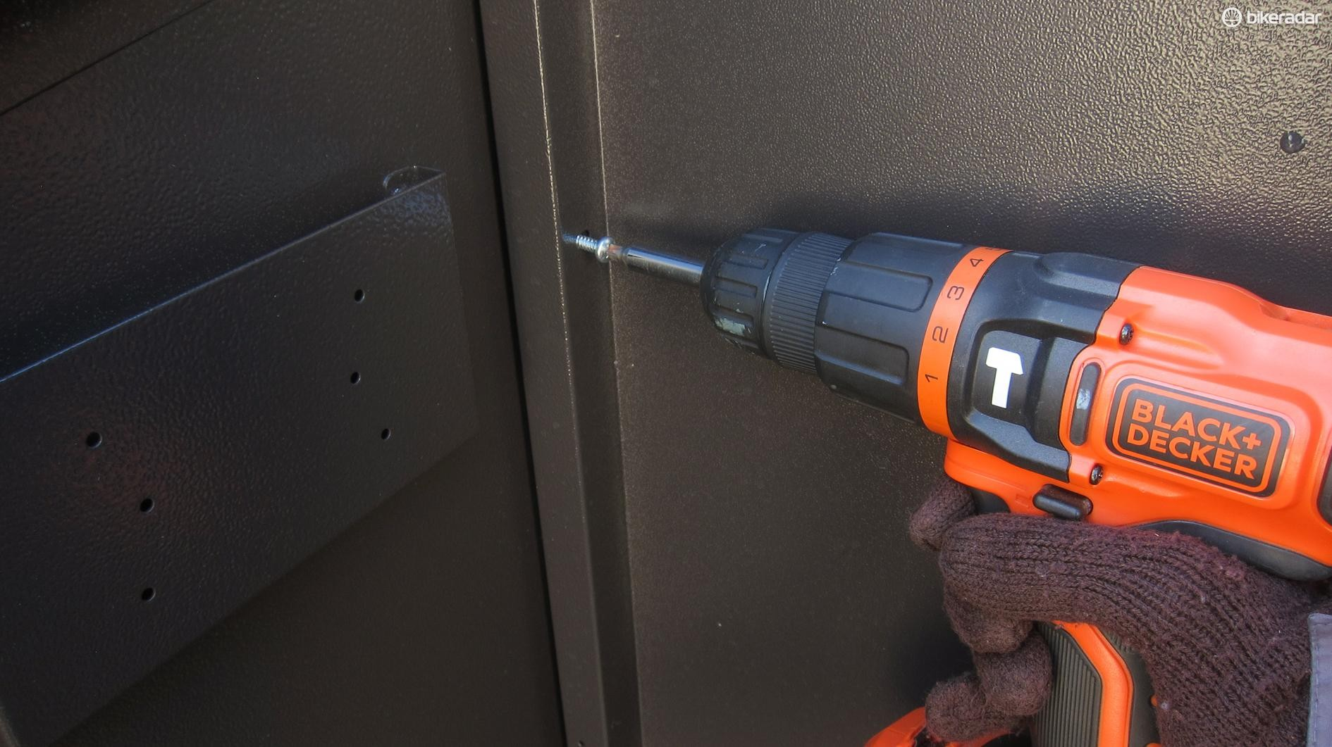 An electric screwdriver is all but essential for construction