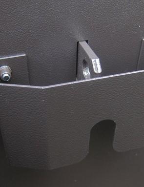 The locks are hidden behind shrouds