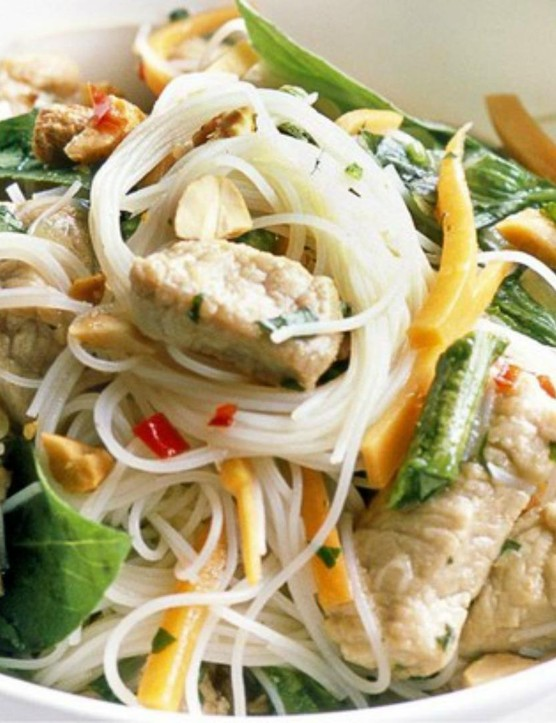 This tasty noodle salad is almost too substantial to be called a salad