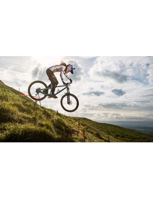 Rachel Atherton: multiple World Champion and World Cup Champion. An amazing athlete, irrespective of gender.