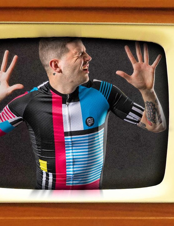 Instant Replay reminds us a little of the iconic La Vie Claire Mondrian style kits
