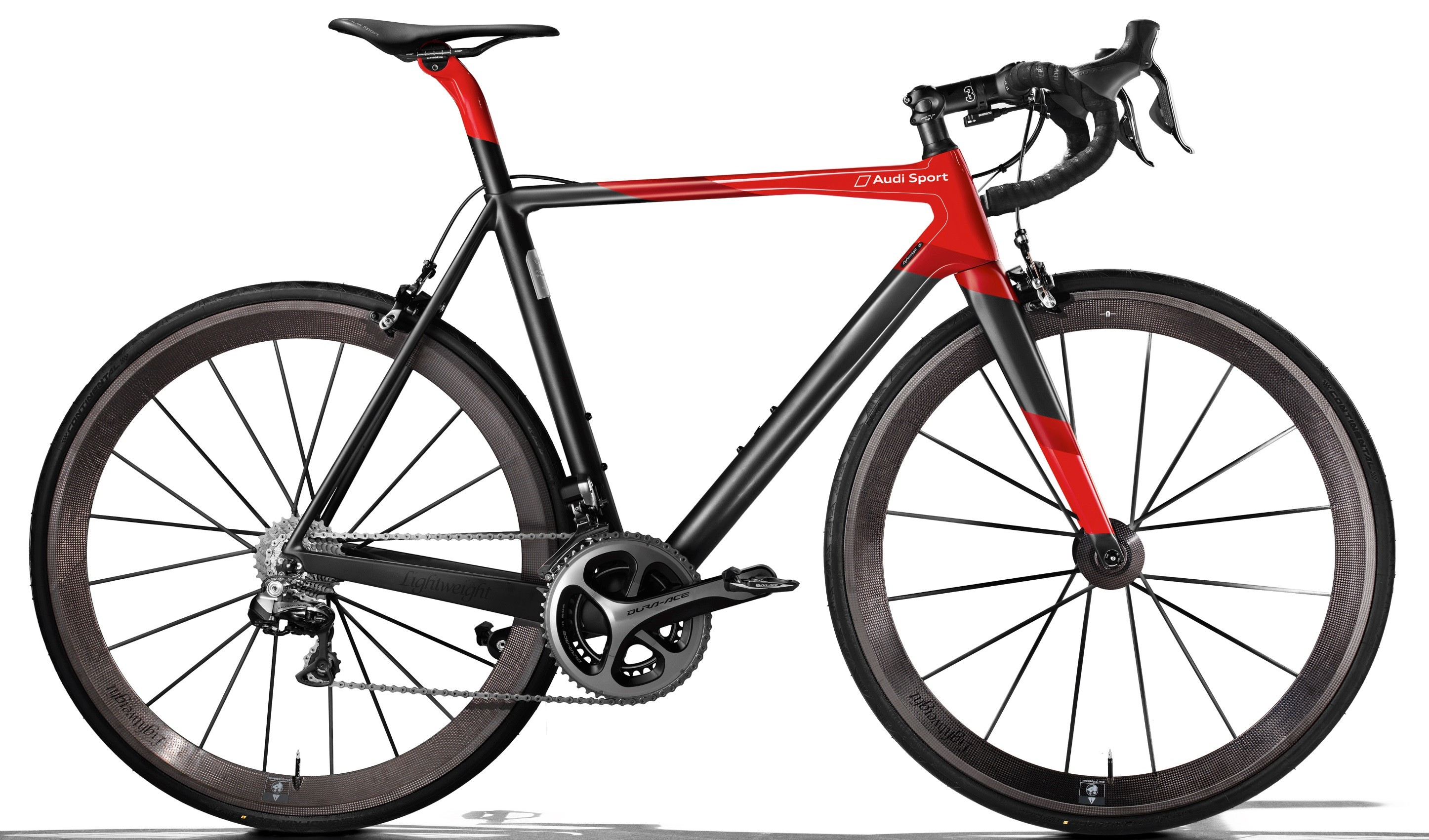 Audi Lightweight Sport Racing bike takes design cues from the German car-makers' Le Mans racers