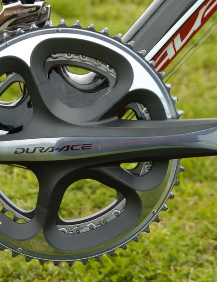 The new Dura-Ace chainset is stiff, light and looks stunning