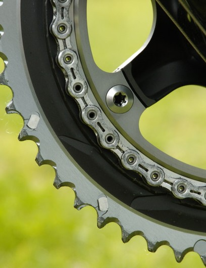 That outer chainring is hollow - as are the pins for the new Dura-Ace chain