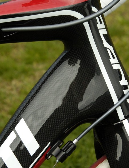 The 1.5in lower headset bearing makes for a stiffer fork and frame