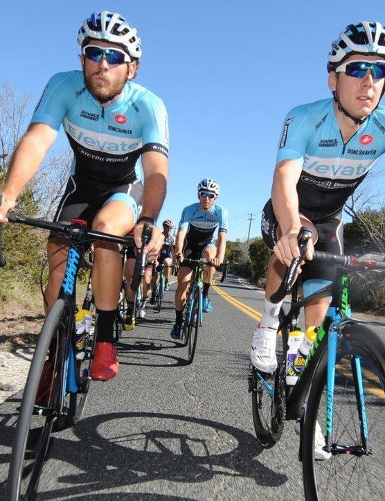 Sides is a coach and a racer for Elevate Cycling, a UCI Continental professional outfit