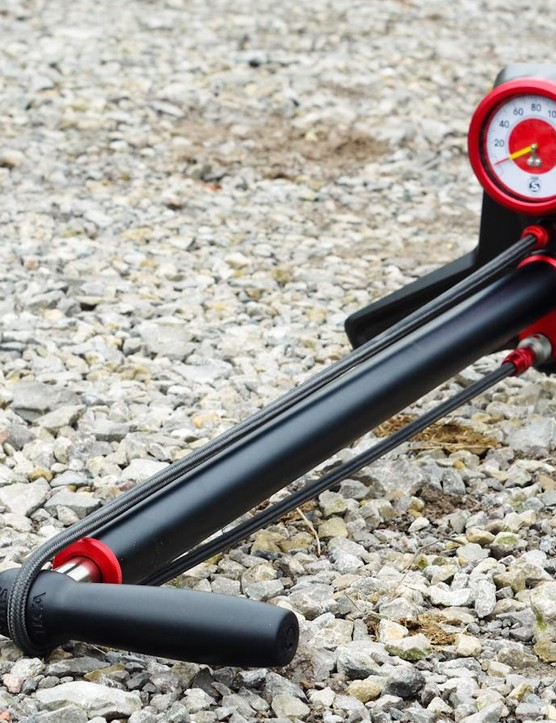 The Silca SuperPista is an exceptionally nice track pump
