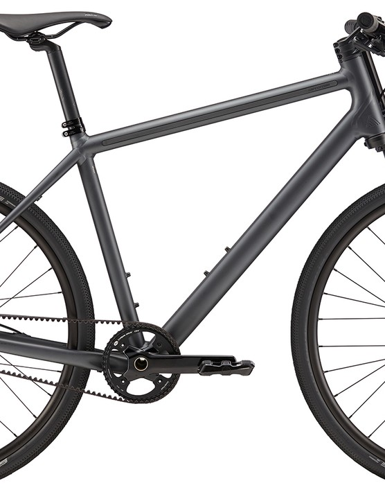 The Cannondale Bad Boy 1 features an illuminated Lefty, LEDs in the seatpost and an internally geared hub with a belt drive