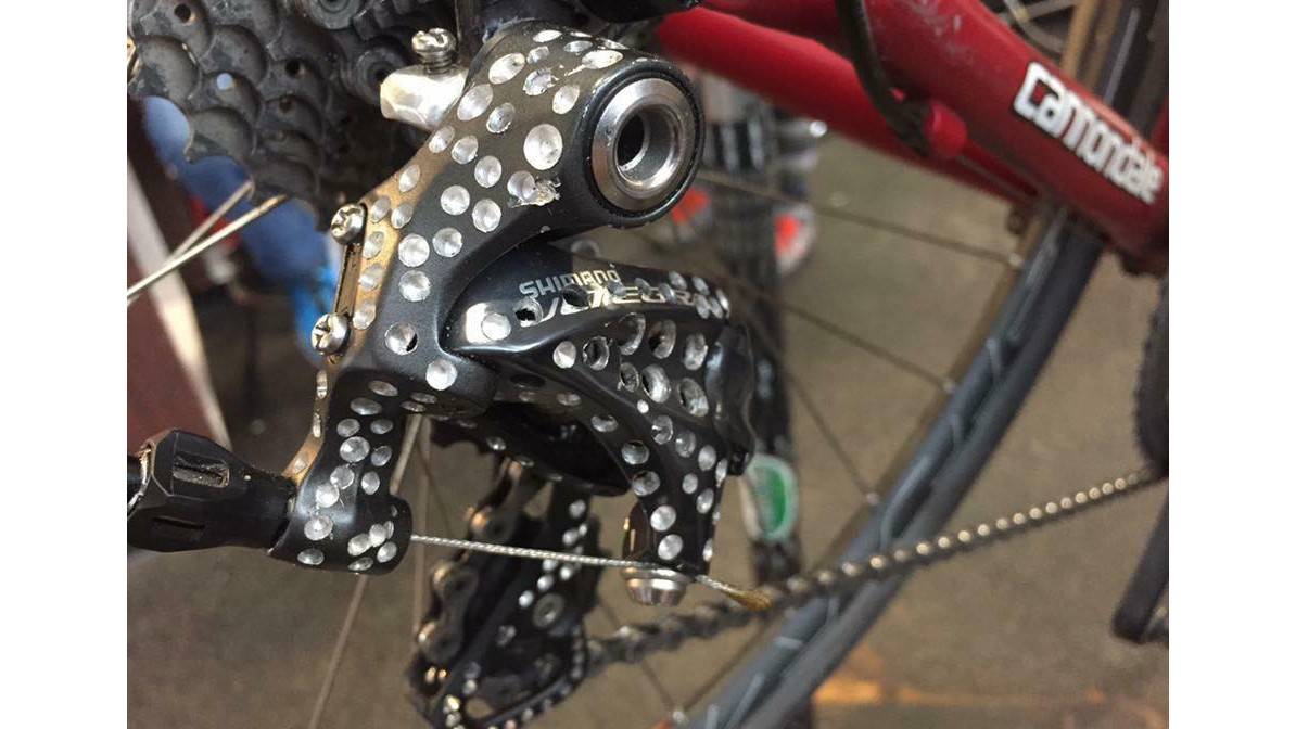 Cranks Bicycle Garage recently spotted this really inexcusable 'drillium' effort
