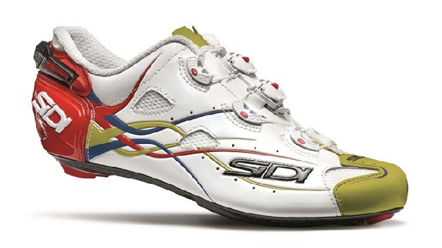 Sidi's new custom shoes for Bahrain-Merida get the team colours of red, white and gold