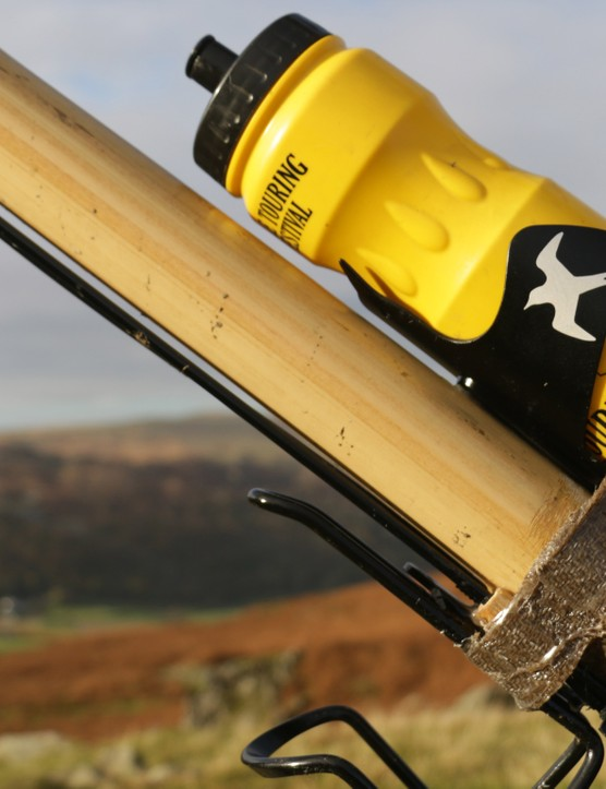 The swallow-inspired bottle cage was a gift from Kate Rawles bother
