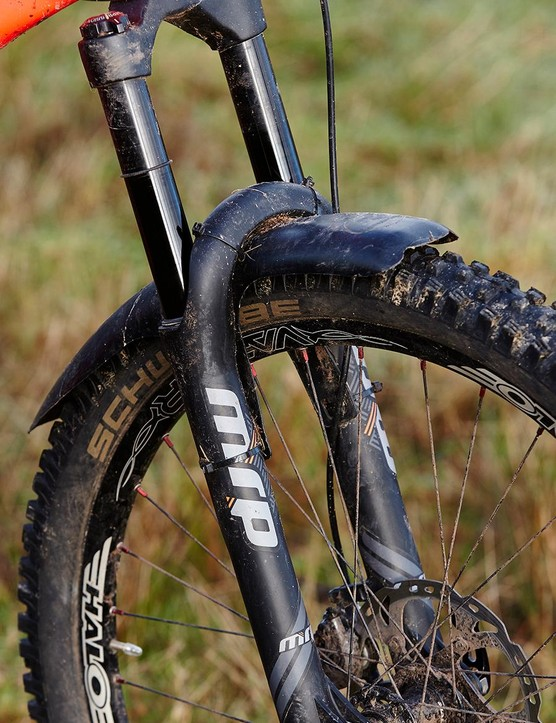 The MRP Stage fork can be swapped for a RockShox Pike but ours worked well