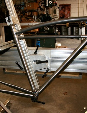Early stages of a Sycip in a frame jig.