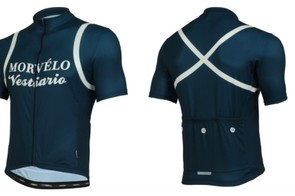 The Morvelo Eroica is inspired by the classic jerseys of yesteryear