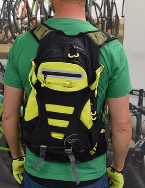 The new Endura MT500 Enduro Backpack features an integrated back protector
