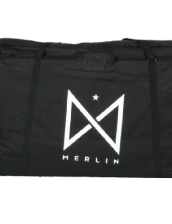 The Merlin Bike Bag provides padding and shoulder straps, so it's easier to move around the airport than a cardboard box