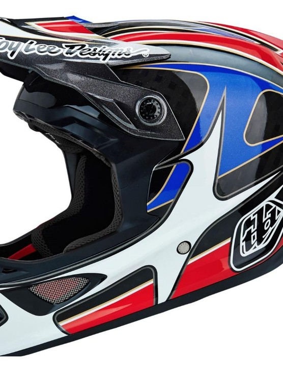 Protect your head with a carbon full-face helmet from Troy Lee