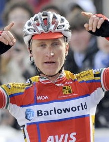 Team Barloworld's Enrico Gasparotto wins stage 1 of 3 days of De Panne.
