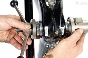 While you can just use a sturdy block of wood, a proper bearing press is a wise investment for any home workshop