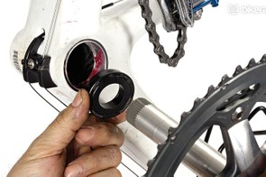 Thoroughly grease the bottom bracket shell before reassembly
