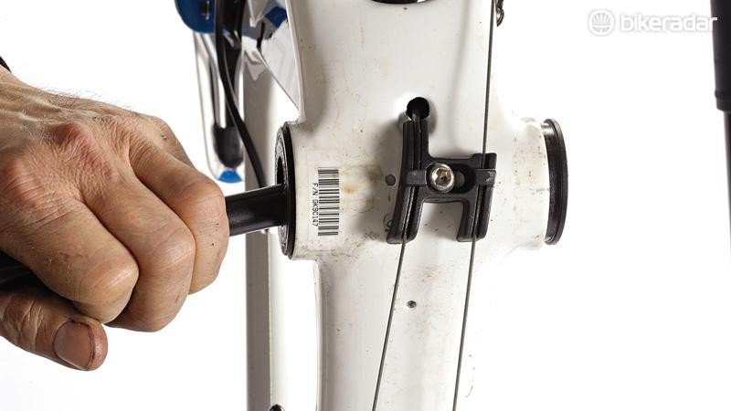A drift is also used to remove Shimano's press fit bottom brackets