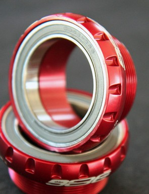 BB386 EVO cranks will work in conventional threaded shells with the right cups installed