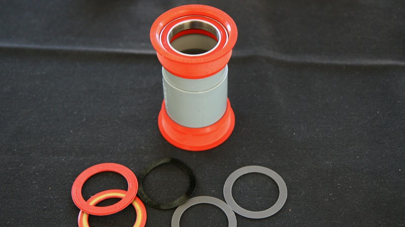 The BB386 EVO bottom bracket system actually uses the same cups as PressFit 30