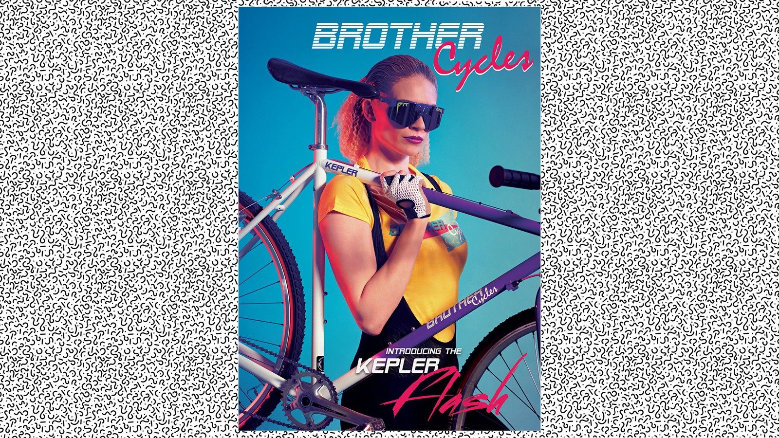 The poster that Brother produced to accompany the new bike is said to hark back to the posters of yesteryear