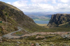 The Scottish sportive of Bealach Mor crosses the infamous road of Bealach-na-Bà