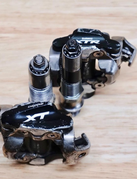 Bearing size is critical for different applications — Shimano uses two unique setups between their XT and XTR model pedals