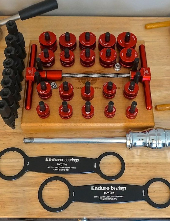 The critical aspect to servicing bearings is having the proper tools — bearing pulls and presses ensure proper alignment