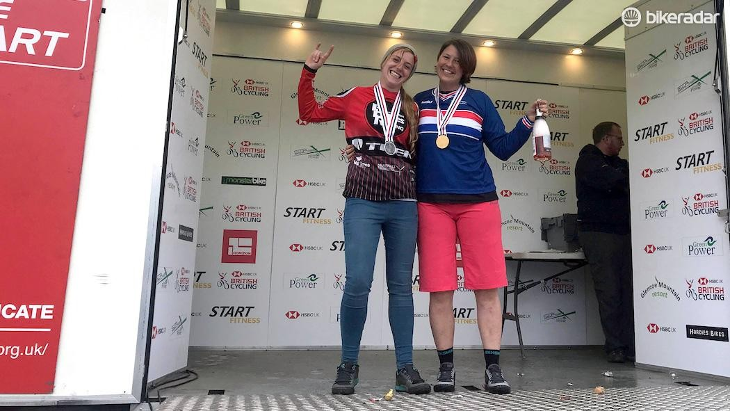 Rebecca Smith (right) in her National Champion stripes