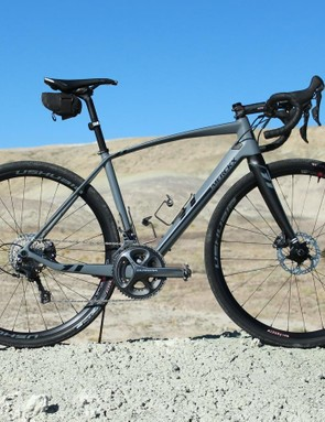Our group rode the new Eddy Merckx Strasbourg71 carbon gravel bike with Clément's new Ushuaia wheels